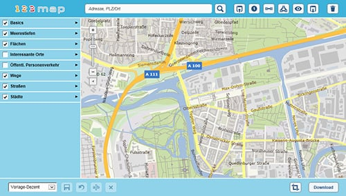 Maps4Realestate – An Online Map Editor to create customized Maps for